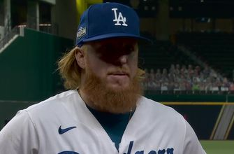 Photo of Justin Turner on getting NLDS Game 1: 'It's always good to get Game 1 under your belt'