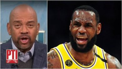 Photo of Reacting to LeBron's comments about the NBA possibly starting the playoffs right away | PTI