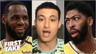 Photo of Kyle Kuzma on developing a championship mentality and learning from LeBron and AD | First Take