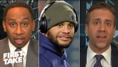 Photo of First Take reacts to police investigating a potential party thrown at Dak Prescott's house