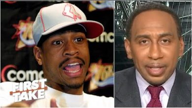 Photo of Stephen A. remembers covering Allen Iverson's epic 'practice' rant | First Take
