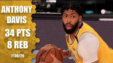 Photo of Anthony Davis scores 34 points in the first night of the NBA restart | 2019-20 NBA Highlights