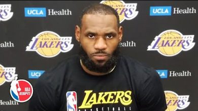 Photo of LeBron James talks Lakers' loss, reacts to President Trump's criticism of kneeling | NBA on ESPN