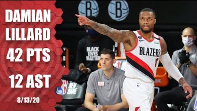 Photo of Damian Lillard scores 42 points for Blazers vs. Nets | 2019-20 NBA Highlights