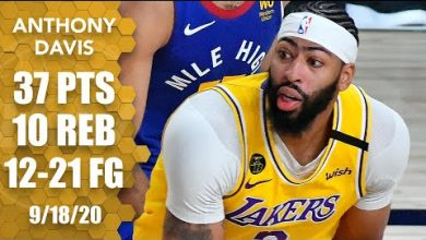 Photo of Anthony Davis takes over Game 1 of WCF with 37 points in Nuggets vs. Lakers | 2020 NBA Playoffs