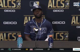 Photo of Randy Arozarena discusses his 2-run homer after Rays' Game 4 loss to Astros