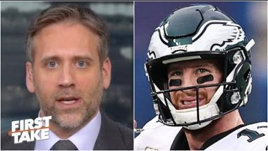 Photo of Max Kellerman rips Carson Wentz for the Eagles' loss to the Giants | First Take