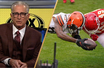 Photo of Mike Pereira breaks down the touchback, controversial Sorensen hit in Chiefs vs. Browns
