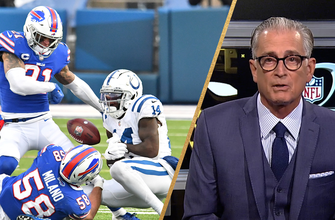 Photo of Mike Pereira on controversial replay review in Bills vs. Colts, 'To me, it's pretty obvious that it was a fumble and recovery by the Bills'