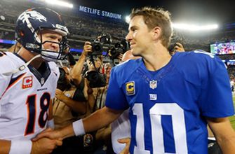 Photo of Super Bowl Watch Party: Eli Manning on his brother, Peyton, reaching the Hall of Fame