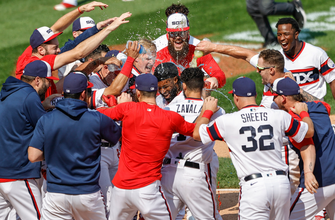 Photo of Brian Goodwin's walk-off homer helps White Sox edge Indians, 2-1